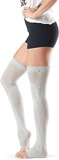 toesox 女士 Ava 及膝保暖腿套,瑜伽时装