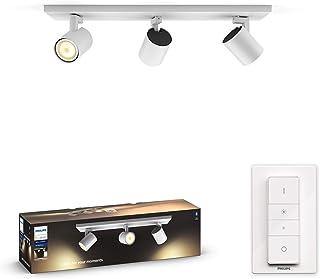 Philips 飞利浦Hue白色琥珀 LED 1 个聚光灯 Runner 包括调光开关,白色,可调光,白光,可通过App控制,可与亚马逊Alexa兼容 (Echo, Echo Dot) 白色 8718696175361