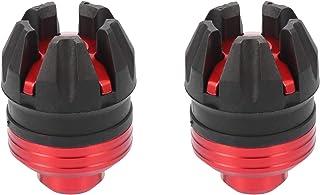 F FIERCE CYCLE 一对通用摩托车车轮前叉框架滑块垫保护盖红色