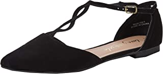New Look 女士 Kurl 踝带芭蕾平底鞋