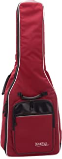 Rocktile 3/4 和 7/8 经典吉他包 带背包装饰 Gigbag 用于音乐会吉他 weinrot