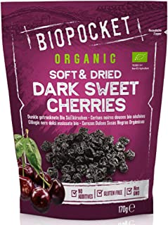 Biopocket 天然食品柔软干燥的甜樱桃,2 x 170 克