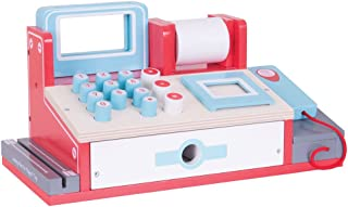 Bigjigs Toys 儿童木质玩具收银机 - 儿童假装游戏和角色扮演