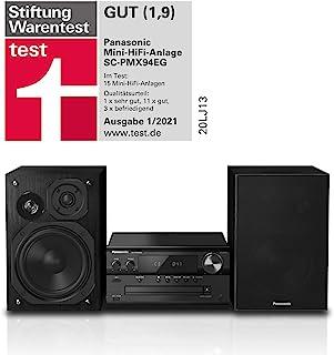 Panasonic 松下 微型HiFi音箱 SC-PMX94EG-K (120W RMS,数字DAB+,CD,UKW,蓝牙,USB,AUX),黑色