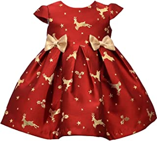 Bonnie Baby 假日连衣裙女孩圣诞连衣裙