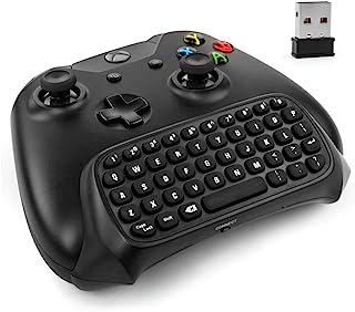 Xbox One 控制器键盘 - 2.4Ghz 无线迷你蓝牙文本邮差信封聊天板键盘适配器适用于 Xbox One 游戏控制器黑色【一盒】