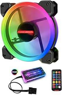BESPORTBLE RGB 保护套风扇可调节电脑保护套风扇带 RGB 控制器安静 120 毫米 RGB 冷却保护套风扇适用于电脑机箱