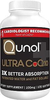 Qunol Ultra CoQ10 100mg 水和脂溶性天然补充形式辅酶Q10 抗氧化剂有益于心脏健康 120粒软胶囊