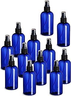 12 件装 �C 8 盎司(约 226.8 克) �C Blue Boston 塑料喷雾瓶 �C 精细喷雾器和防尘盖,适用于精油、香水、清洁产品。
