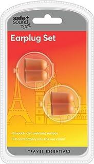 Safe and Sound 旅行耳塞,带 2 对,4厘米,橙色