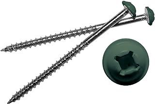Mid America 彩绘螺丝 适用于乙烯基百叶窗 028 森林绿 12 个装