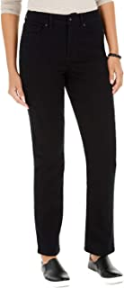 Style & Co. 女士曲线修身直筒牛仔裤,黑色水洗,6L