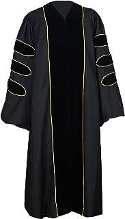 GraduationForYou 中性款豪华*毕业礼服带金色滚边,可定制