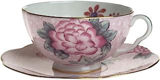 Wedgwood Harlequin 杜鹃图案 杯碟套装 粉色