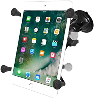 """RAM Mounting Systems 吸盘式车载支架 用于7英寸以上的平板电脑的支架 RAM Twist Lock Suction Cup Mount with Universal X-Grip Cradle for 7"""" Tablets ..."""