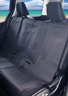 Meltec 大自工业 防水座套 PVC涂层 通用 后座用1张 黑色 安装简单 尺寸:约宽125厘米×长150厘米 [ LS-03]