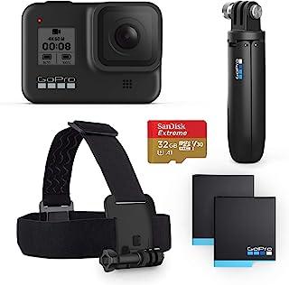 GoPro HERO8 黑色套装 - 包括 HERO8 黑色相机、短、头带、32GB SD 卡和 2 个可充电电池