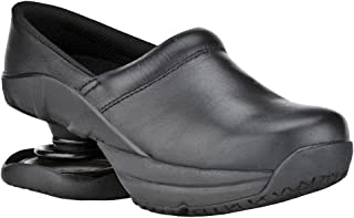 Z-CoiL 缓解*鞋履 女式 Toffler 防滑 黑色皮革洞洞凉鞋