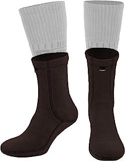 281Z *保暖 6 英寸靴子衬袜 - 户外战术徒步运动 - Polartec 抓绒冬季袜子(棕色熊)