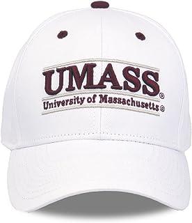 NCAA 马萨诸塞州立大学马萨诸塞州立大学体育协会比赛吧设计帽,白色,可调节