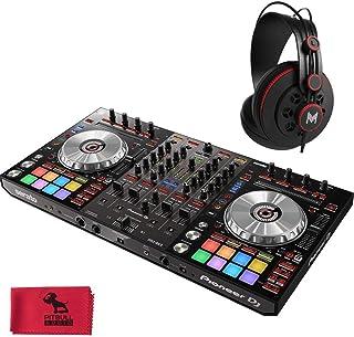 Pioneer DJ DDJ-SX3 4 声道伺服器,带音频接口,带 MHPRO10 全程专业监控耳机和 Pitbull音频超细纤维布。