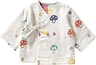 Hoppetta 10mois 蓬松纱布(6层纱布) 睡袍 棉100% 适合新生儿~3岁左右 蘑菇图案 婴儿