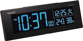 Seiko 精工 座钟 01:黑色 主体尺寸:7.3×22.2×4.4cm 电波 电子 交流式 彩色液晶 系列C3 不带吊牌 BC406K