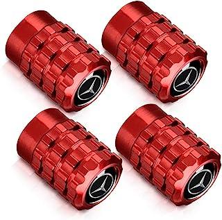 4 件轮胎阀杆盖适用于奔驰车轮轮胎阀杆盖适用于梅赛德斯奔驰 C E S M CLS CLK GLK GL A B AMG GLS GLE AMG 标志装饰配件