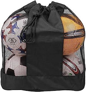超大网眼球袋 带口袋 可调节网眼装备袋 足球袋 多网袋 重型篮子 排球 足球 手提袋 网眼 单肩包 球包 包 包 包