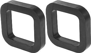 X AUTOHAUX 2 件方形 2 英寸(约 5.1 厘米)车载挂接接收器垫垫垫在接收器和可调节球座拖车挂接装置减少摇铃消除噪音