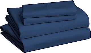 AmazonBasics 亚马逊倍思 超细纤维床单套组, 中号双人, 藏蓝