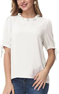 LIUMILAC 女式露肩豹纹上衣细肩带吊带衬衫七分袖