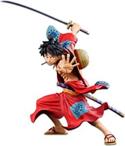 Banpresto One Piece 罗马斗兽场3海贼王 蒙奇・D・路飞手办,漫画尺寸,多种颜色(BP16446)