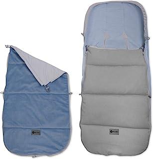 婴儿座椅通用睡袋,婴儿车和婴儿车,颜色:BABY GREY + BLUE SKY