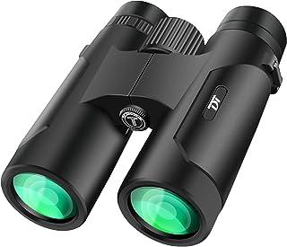 TDT 12 x 42 成人儿童双筒望远镜,紧凑双筒望远镜,用于狩猎,光线清晰,大型目镜防水双筒望远镜,适用于观鸟,户外运动、音乐会、旅行、观光