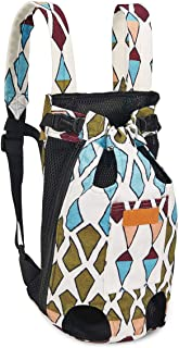 狗狗背带背包适用于小型中型犬猫,可调节宠物前胸背包旅行包,透气网眼腿部外出小狗前背包,便携便携旅行包,适合旅行、远足、露营、免提