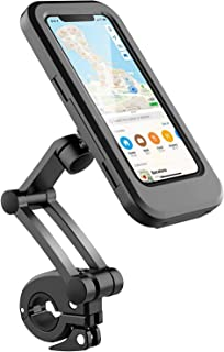 B-Land 防水自行车手机支架摩托车用 - 自行车车把,360° 可调节通用摩托车手机支架自行车手机支架 带 TPU 触摸屏