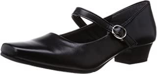 [一段式隐形]日本产 3cm高跟浅口鞋 黑色 女士 绑带 IM39301