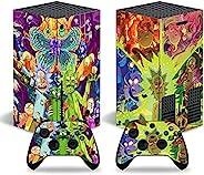 Rick and Morty 皮肤贴花贴纸适用于 Xbox 系列 X 控制台皮肤,动漫保护套包裹保护套保护面板全套控制台兼容 Xbox 系列 X 控制器皮肤(4195)