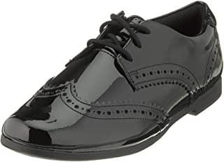 Clarks 女孩 Scala 系带Y 德比鞋