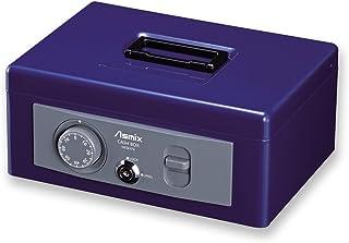 ASKA ASMIX 手提保险柜 MCB MCB370 A5 ダイヤル 収納書類 A5 钴蓝色