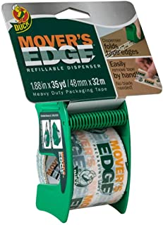 "Duck Brand Mover's Edge 包装胶带:4.81 厘米 x 88.24 厘米。 (半透明带""MOVER'S EDGE""印花)+带分配器"