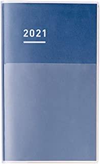 KOKUYO 国誉 自我手帐 DIARY 记事本 2021年 A5 细长 月历&周历 靛蓝色 NI-JCD1DB-21 2020年 11月开始