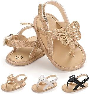 LAFEGEN 女宝宝鞋花朵麂皮柔软防滑鞋底婴儿新生儿 PU 皮革夏季凉鞋幼儿学步鞋(0-18 个月)