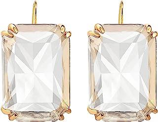 方形透明玻璃耳坠女士多色时尚几何吊坠耳环简约个性珠宝婚礼礼物