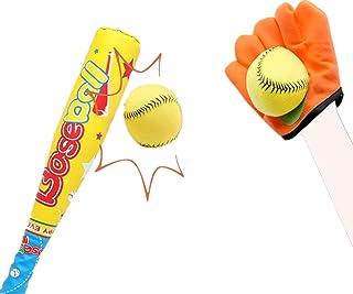 ZHIMO 玩具儿童棒球套装,幼儿棒球棒和棒球,男孩女孩户外教育运动游戏