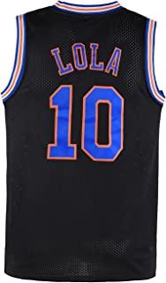 LOLA 青年 #10 男士篮球球衣 太空电影 儿童 S-XL 白色/黑色