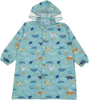 小川(Ogawa) 儿童雨衣 120厘米 Kukka Hippo 恐龙 附带反光条 附带河马先生造型背包款式收纳袋 可从背包上穿调整的褶皱 83290