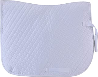 Leberna 基本款棉质绗缝多用途正装马鞍垫舒适英式马鞍垫 - 马垫