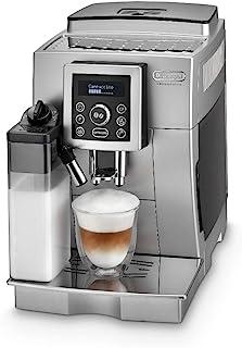De'Longhi 德龙 全自动咖啡机 ECAM 23.466.S 带有奶泡系统 一键式制备卡布奇诺及意式浓缩(Espresso),带纯文本的数字显示,2杯功能,1.8升大水箱,银色